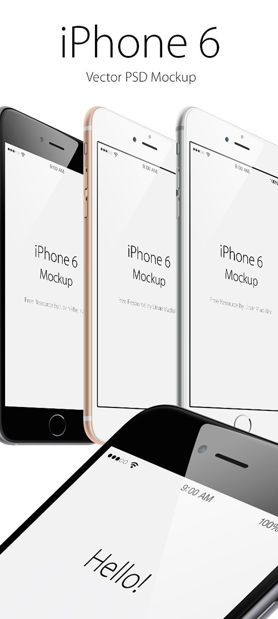 Descargar mockup Iphone 6 gratis
